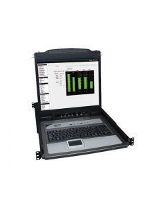 """Tripp Lite 16-Port Rack Console KVM Switch 19"""" LCD PS2/USB Cables 1U - consola KVM - 19"""""""