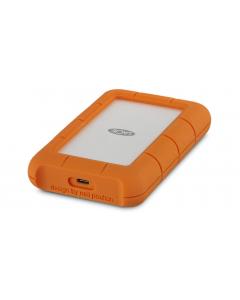 Disco Duro Externo LaCie Rugged USB-C - 4 TB - USB 3.1 Gen 1 (USB-C conector) - Naranja