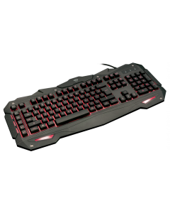 Teclado Gamer Trust GXT 840 Myra, Iluminación LED 3 Colores, Anti-Ghosting, Cable 1.8mts.