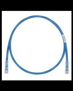 Latiguillo de cobre UTP Cat 6, 28 AWG, 3 pies, azul