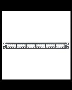 Panduit cp24bly 24 puertos Panel de conexión plana, color negro