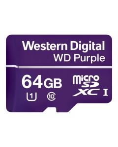 Tarjeta de memoria flash 64 GB - WD Purple WDD064G1P0A - microSDXC