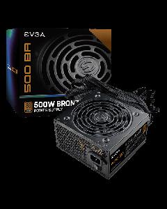 Fuente de poder EVGA 500 BA, 500W, Certificada 80+ Plus Bronze, No modular