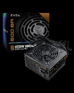 Fuente de poder EVGA 600 BA, 600W, Certificada 80+ Plus Bronze, No modular