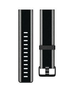 Muñequera de Reloj Fitbit Woven Hybrid - Grande  (negro/gris)