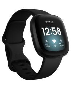 Reloj inteligente con GPS Fitbit Versa 3 (negro / aluminio negro)