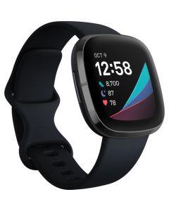Reloj inteligente Fitbit Sense GPS (acero inoxidable carbono / grafito)