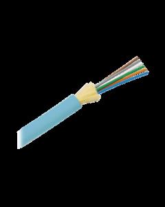 Cable de Fibra Óptica de 6 hilos, Multimodo OM3 50/125 Optimizada, Interior, No Conductiva (Dieléctrica)