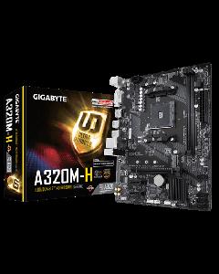 Gigabyte GA-A320M-H - 1.1 - placa base - micro ATX - Socket AM4 - AMD A320 - USB 3.1 Gen 1 - Gigabit LAN - Tarjeta gráfica (CPU necesaria) - HD Audio (8-canales)