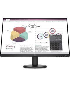 Monitor HP P24v G4, 23.8'', Panel IPS, FHD (1920x1080), 5ms, VGA, HDMI, Compatible Vesa, Color negro