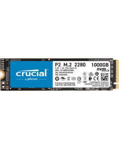 Unidad SSD Crucial P2 1TB PCIe M.2 2280SS, Lectura 2400 MBs - Escritura 1800 MBs