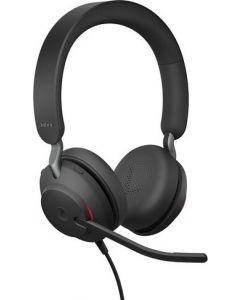 Diadema Jabra Evolve2 40, Estéreo, Micrófono ajustable, USB-C, Color negro