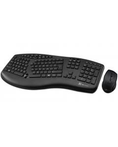 Kit Teclado + Mouse Klip Xtreme Majestik Compact Duo, 2.4GHz, Wireless, Negro