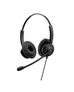 Klip Xtreme - VoxPro-S | Set de auriculares estéreo para empresas con interfaz USB