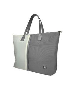 "Klip Xtreme - Bolso para Notebook - 15.6"" - 1200D polyester - Gris/Blanco"
