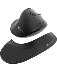 Mouse Wireless Klip Xtreme Flexor, Ultra-ergonómico, 6 Botones, 2.4GHz, Black