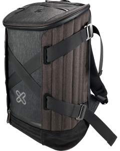 "Klip Xtreme - Notebook carrying backpack - 15.6"" - 1680D nylon - Gray / Mocha brown"