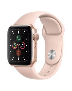 Apple Watch S5 GPS, 40 mm Aluminium case Gold - Correa deportiva rosa arena