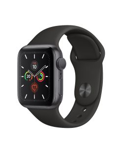 Apple Watch S5 GPS, 40 mm Aluminium case Space Grey - Correa deportiva negra