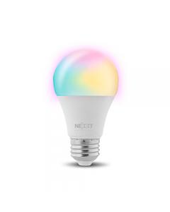Ampolleta Led inteligente Wi-Fi 220V A19/E27 Nexxt NHB-C120, Multicolor, Control por voz
