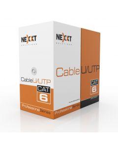 Cable a granel Cat.6 U / UTP, chaqueta tipo CM