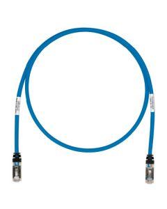 Cable de interconexión - atornillado, sin halógenos, sin enganches, trenzado - azul