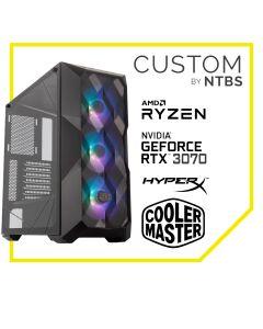 Computador Gamer Custom TOP CLASS (Ryzen 7 3700X - TUF Geforce RTX 3070 8GB - 16GB DDR4 - SSD 500GB Black + 2TB HDD - Enfriamiento Liquido - Free DOS)