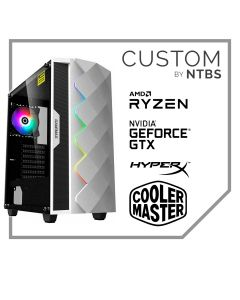 Computador Gamer Custom (Ryzen 7 3700X - MSI Gforce GTX 1650 D6 - 16GB DDR4 - SSD 500GB Black + 2TB HDD - Enfriamiento Liquido - Free DOS)
