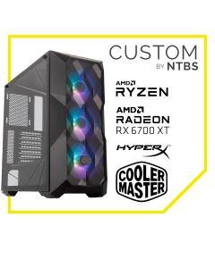 Computador Gamer Custom TOP CLASS (Ryzen 7 3700X - RADEON RX 6700XT GAMING 12GB - 16GB DDR4 - SSD 500GB Black + 2TB HDD - Enfriamiento Liquido - Free DOS)
