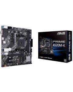 Placa Madre ASUS Prime A520M-K AM4 AMD Ryzen A520, SATA 6Gb/s, M.2, HDMI