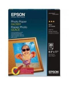 Papel Epson S041141 - Glossy Fotográfico - Tamaño Carta - 20 Hojas
