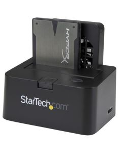 Base de Conexión Externa USB 3.0 UASP y eSATA con Ventilador para Disco Duro SATA III 6Gbps de 2,5 y 3,5 Pulgadas