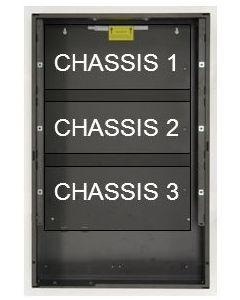 Notifier - Panel de control Chasis de expansión Black Box - Caja de montaje en superficie - Chasis 3 Negro