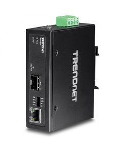 TRENDnet TI-F11SFP - Convertidor de medios - GigE - 10Base-T, 100Base-TX, 1000Base-T - RJ-45 / SFP (mini-GBIC)