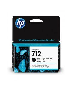 Cartucho de tinta negra TINTA HP 712 de 38 ml T250 / T650 3ED70A
