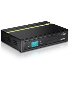TRENDnet TPE S50 - Conmutador - sin gestionar - 4 x 10/100 (PoE) + 1 x 10/100 - sobremesa - PoE (31 W)