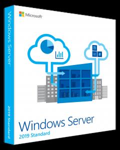 Microsoft Windows Server 2019 Standard - Licencia - 16 núcleos, 2 máquinas virtuales - OEM - ROK - bloqueado por BIOS (Dell)