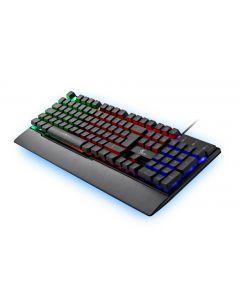 Xtech - ARMIGER Teclado cableado multimedia Gamer con iluminación de fondo multicolor