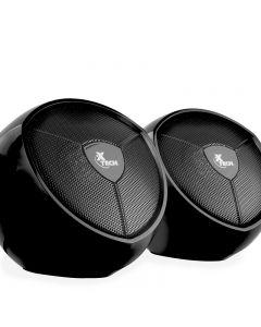 Xtech - Parlantes estéreo multimedia de 2.0 canales con alimentación USB y cable de 3,5mm