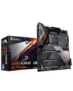 Placa Madre Z490 AORUS Ultra LGA1200, Triple M.2, SATA 6Gb/s, WIFI 6, 2.5 GbE LAN, ATX