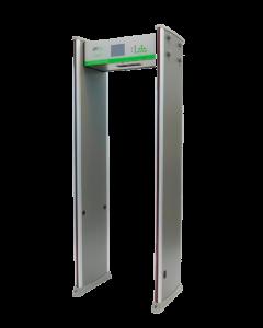 Arco Detector de Metales de 18 Zonas / Detector de Temperatura corporal / Sensor IR / Contador de personas / Pantalla LCD 5.7 IN / Fácil de programar mediante Control Remoto