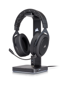 Corsair Audifono Gamer HS70 Carbon, Wireless Virtual 7.1 Surround, Gaming Headset- Negro