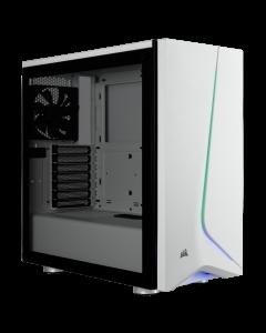 Corsair Chasis de cristal templado Carbide SPEC-06 RGB, blanco