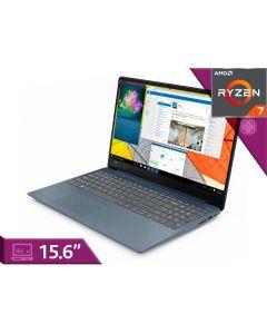 "Notebook Lenovo 15.6"" | AMD Ryzen 7 2700U | 2.2 GHz | 8 GB DDR4 SDRAM | 1.128 TB Hybrid Drive | Windows 10 Home - Azul - Español"