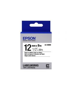 Epson LabelWorks LK-4WBN - cinta de etiqueta - 1 bobina(s) - Rollo (1,2 cm x 9 m)
