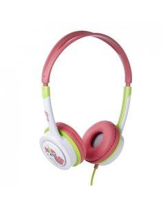 Audífono On Ear para niños Little Rockers rosado/ verde