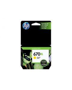 HP 670XL - Alto rendimiento - amarillo tintado - original - Ink Advantage - cartucho de tinta