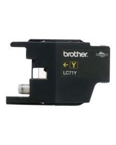 Brother LC71Y - amarillo - original - cartucho de tinta
