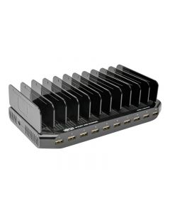 Tripp Lite 10-Port USB Charging Station Hub w Adjustable Storage Tablet / Smartphone / iPad / Iphone 5V 21A 105W - adaptador de corriente