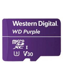 Micro SDXC 128 GB -  Tarjeta de memoria flash WD Purple WDD128G1P0A - Video Class V30 / UHS-I U3 - púrpura